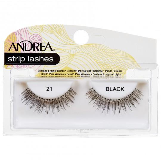Andrea Strip Lashes – 21 Black
