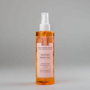 The White Olive Suntan Body Oil 200ml