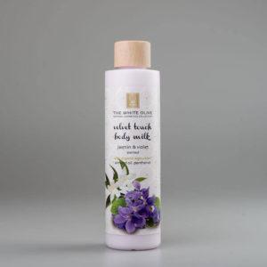 The White Olive Body Milk Jasmine & Violet 250ml