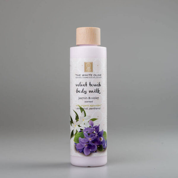The White Olive Body Milk Jasmine & Violet 250ml