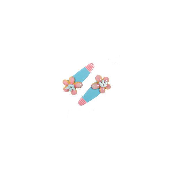 Ro Accessories Παιδικό κλικ κλακ Λουλούδι Γαλάζιο