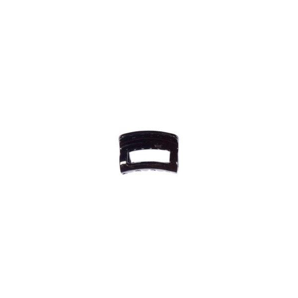 Ro Accessories Κλάμερ 4 cm Μαύρο Γυαλιστερό