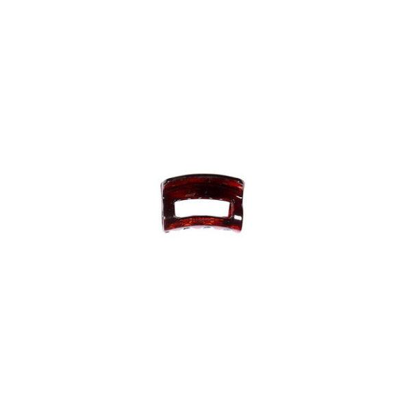 Ro Accessories Κλάμερ 4 cm Καφέ Γυαλιστερό