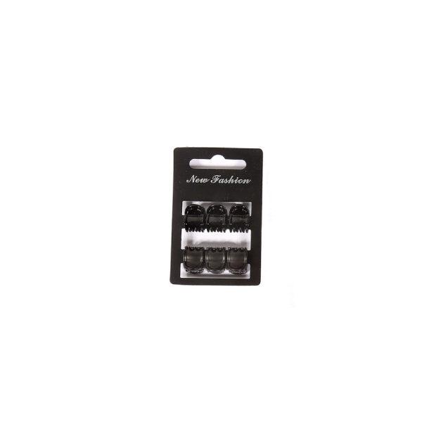 Ro Accessories Κλάμερ 1cm σετ 6 τμχ Μαύρο