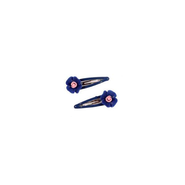 Ro Accessories Παιδικό κλικ κλακ, Λουλούδι σετ 2 τμχ Μπλε