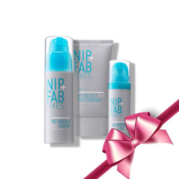 Nip+Fab No Needle Gift Set (Serum,Moisturizer,Eye Cream)