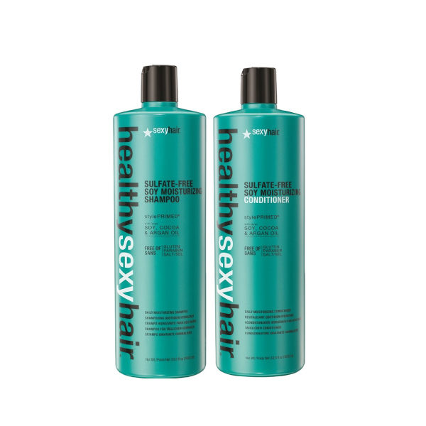 Sexy Hair Sulfate-Free Soy Moisturizing Shampoo & Conditioner 1000ml