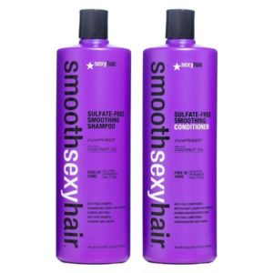 Sexy Hair Sulfate-Free Soy Smoothing Shampoo & Conditioner 1000ml