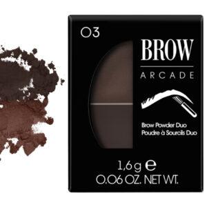 Vivienne Sabo Brow Arcade Eyebrow Shadow Duo No. 03 Brunette